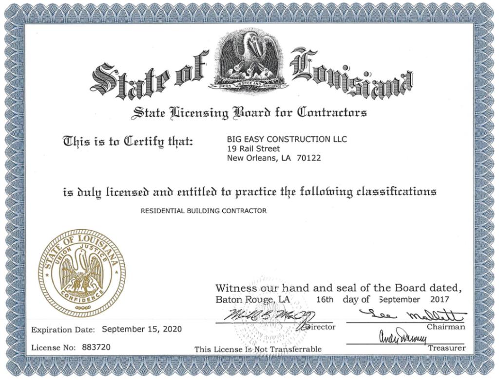 Residential License